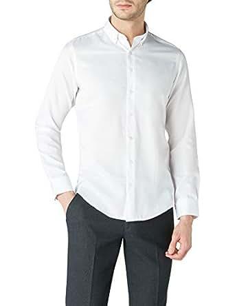 DeFacto Erkek Desenli Gömlek, Beyaz, XL Beden