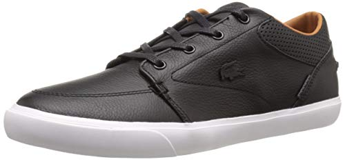 Lacoste Men's Bayliss Vulc PRM Fashion Sneaker, black on black, 10.5 M US