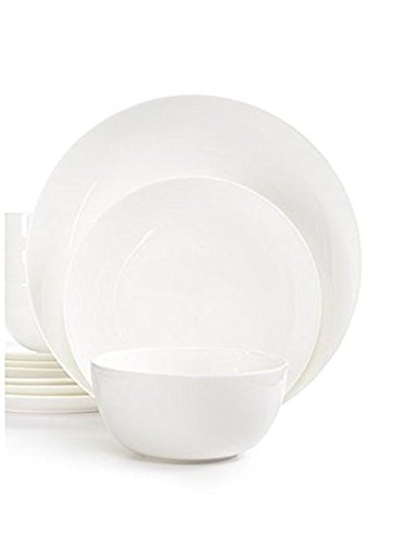 Hotel Collection White Dinnerware, Bone China Coupe 12-Pc. S