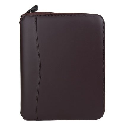 (Classic FC Basics Spacemaker Vinyl Zipper Binder - Burgundy)