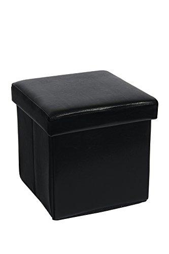 Fsobellaleo Faux Leather Small Ottomans for Baby Folding Storage Pouf - Stool Mini