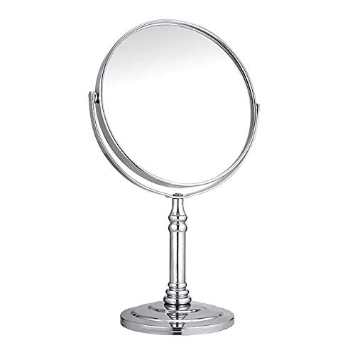 VONOTO Magnifying Vanity Mirror, Double Sided Swivel Makeup Mirror 5X Magnification Cosmetic Mirror 360° Rotation (5