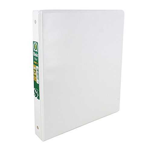 Cardinal Basic Value ClearVue 1 Inch Round Ring Binder, 225 Sheet Capacity, White (1-Inch (1-Count)) -