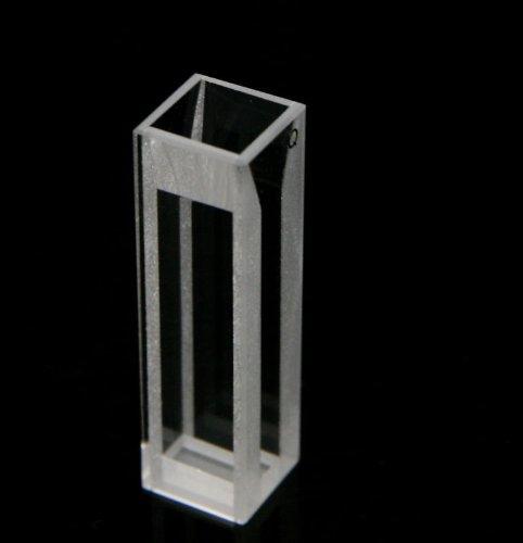 Micro Fluorescence Quartz Cuvette Open top type with PTFE cover, 10 mm light path, 1.4 ml volume,light width 4mm, 4 transparent windows