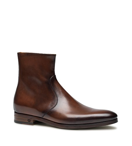 Gucci Men's Calfskin Leather Zip Boot, Burnished Brown 353018 (US 11 (Gucci/UK 10.5)) (Gucci Boots For Men)