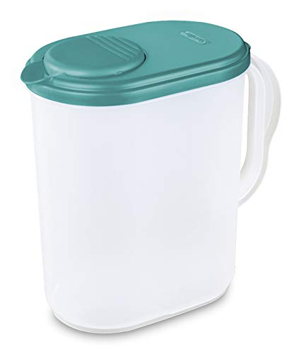 1 Gallon Pitcher Blue Lid w/Lime tab Freezer and Dishwasher Safe Mix Drinks right in the Pitcher Water Tea Juices BPA-free and phthalate-free
