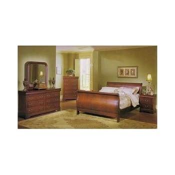 Amazon.com: Louis Phillipe 6 Pc. Bedroom Set in Cherry By Coaster ...