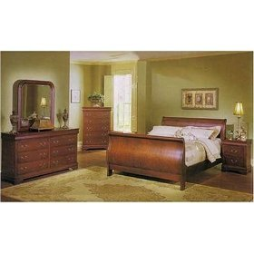 Louis Phillipe 6 Pc. Bedroom Set In Cherry By Coaster Furniture