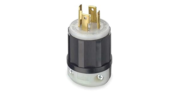 125//250 Volt NEMA L14-30P 3P Leviton 2711 30 Amp 4W Locking Plug