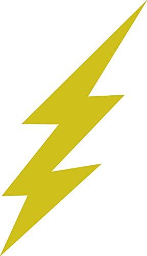 (Creative Concepts Ideas Lightning Bolt Small 2 PK Waterbottle Gold-Yellow CCI Decal Vinyl Sticker|Cars Trucks Vans Walls Laptop|Yellow|3.5 x 1.6)