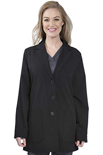 healing hands Purple Label Women's Faith 5053 Lab Coat Scrubs-Black -XX-Large (Black Label Coat)