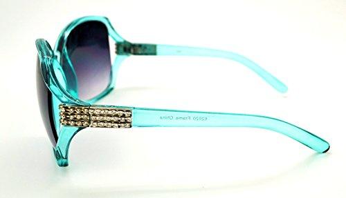 Vox tendance classique haute qualité pour femme Mode Hot Lunettes de soleil W/étui microfibre gratuit Teal Frame - Smoke Lens