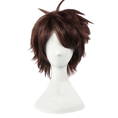 HJLHYL-Oikawa Tooru Layered Short Brown Boys Halloween Lolita Costume Cosplay Party Hair Full Wigs ()