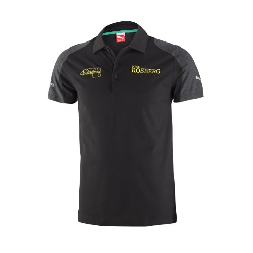 Price comparison product image Puma Mercedes AMG Petronas F1 2014 Men's Rosberg Polo Shirt, Black, Small