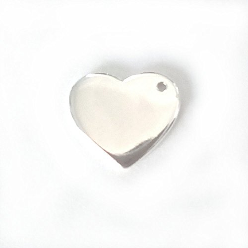 5 qty. Engravable Sterling Silver Heart (12x10mm)By JensFindings ()