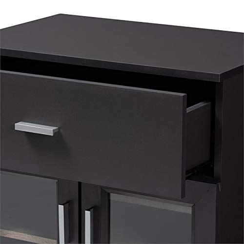 Baxton Studio Jonas Server Cabinet in Dark Grey and Oak Brown by Baxton Studio (Image #7)