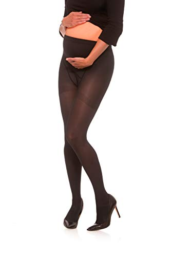 Jomi Compression Maternity Collection, Compression Maternity Pantyhose, 30-40mmHg Surgical Weight 380 (X-Large, Black)