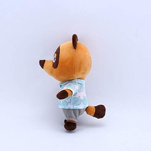 zcm Peluche Bambola Raccoon Peluche Animal Crossing Cartoon Figura Peluche Doll Peluche Giocattoli per Bambini Giocattoli per Bambini Orso Giocattoli di Peluche con Vestiti