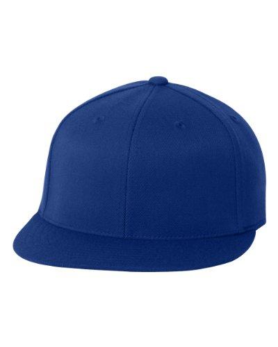 Flexfit 6210FF Flat Bill Cap (Royal, Large/X-Large) (Crown Royal Cap)