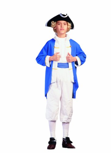English Settler Costume (RG Costumes Colonial Captain Costume, Blue/White,)
