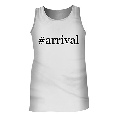 Tracy Gifts #Arrival - Men's Hashtag Adult Tank Top, White, - Arrivals The Instagram