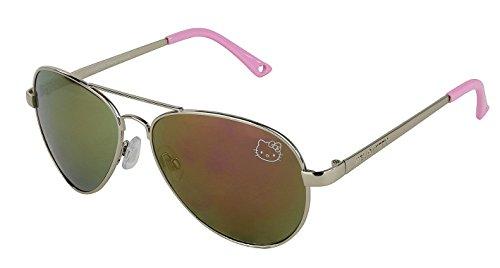 Womens Contemporary Hello Kitty Classic Aviator Sunglasses (Pink - Hello Kitty Sun Glasses
