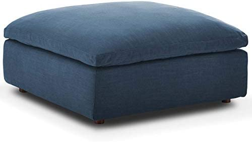 Modway Commix Down-Filled Overstuffed Upholstered Sectional Sofa Ottoman