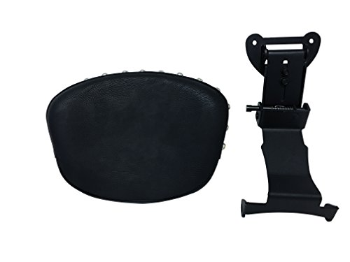 Fully Adjustable Driver's Backrest for 00+ Yamaha Road Star XV1600/1700 - Studded ()