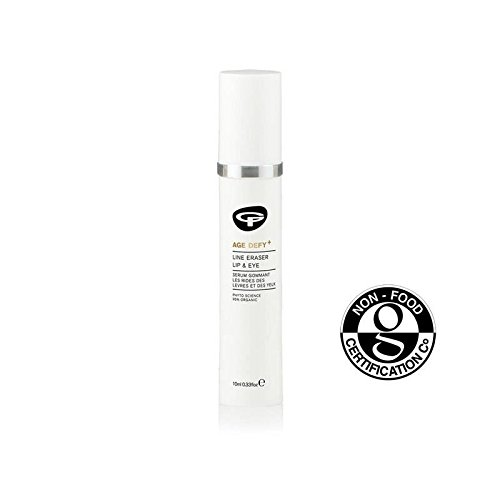 Green People Age Defy+ Line Eraser Lip & Eye Serum 10ml - (Pack of 4)