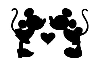 5a4eaa68eb1 Amazon.com  Mickey And Minnie Mouse Kissing Car Truck Vinyl Decal ...