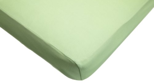 American Baby Company Supreme 100% Natural Cotton Jersey Knit Fitted Crib Sheet for Standard Crib and Toddler Mattresses, Apple Green, Soft Breathable, for Boys and Girls