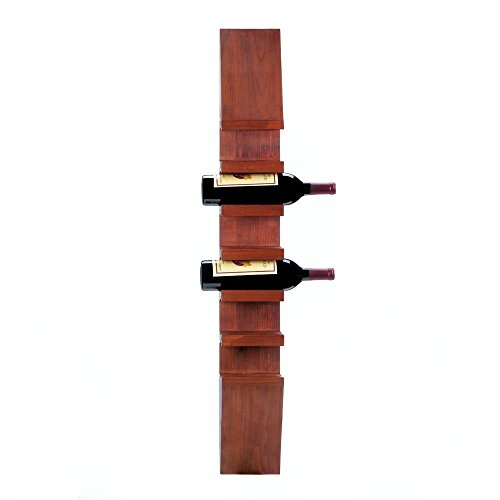 (Accent Plus Wall Mount Wine Rack, Modern Wooden Vintage Mountable Decorative Wall Wine Rack)