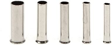 Queenwind 1900Pcs ベア銅 Uninsulation 端子コネクタ 0.5 mm2 0.75 mm2 1.0 mm2 1.5 mm2 2.5 mm2
