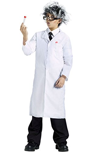 [Mememall Fashion Dr. Doctor White Lab Mad Scientist Coat Child Costume - One Size (12-14)] (Mad Scientist Costumes For Kids)