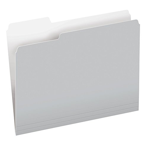 Pendaflex Two-Tone Color File Folders, Letter Size, 1/3 Cut, Gray, 100 per Box (152 1/3 GRA)