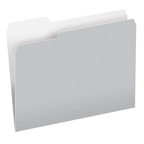 Pendaflex Two-Tone Color File Folders, Letter Size, 1/3 Cut, Gray, 100 per Box (152 1/3 - File Gray