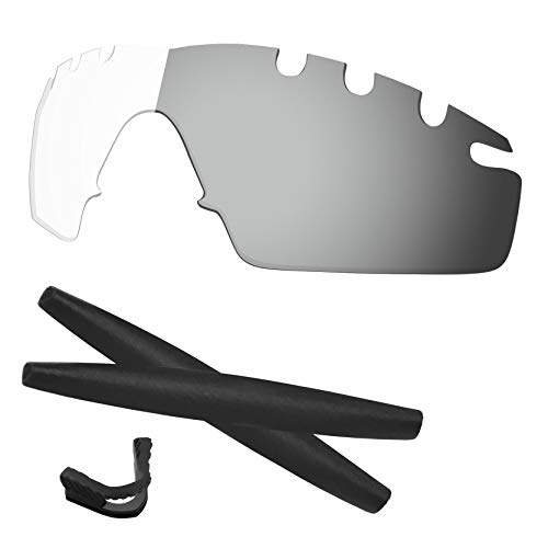 Vented Strike Accessory Lens - Predrox HD to Grey Photochromic M Frame Strike Vented Lenses & Rubber Kits Replacement for Oakley