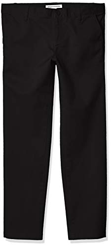 Amazon Essentials Girl's Plus Uniform Chino Pants, Black, 16(P) (Junior Uniform Dress)