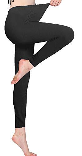 Jescakoo Womens Legging Plus Size Basic Solid Leggings Full Length Skinny Pants