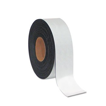 mastervision Dry Erase Magnetic Tape Roll, White, 2'' x 50 Ft.