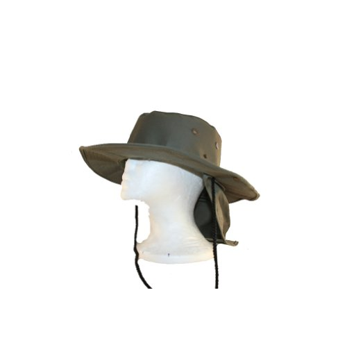 Tactical Sportswear Bucket Boonie Sun Hat Cap With Neck Guard - Olive Drab Large