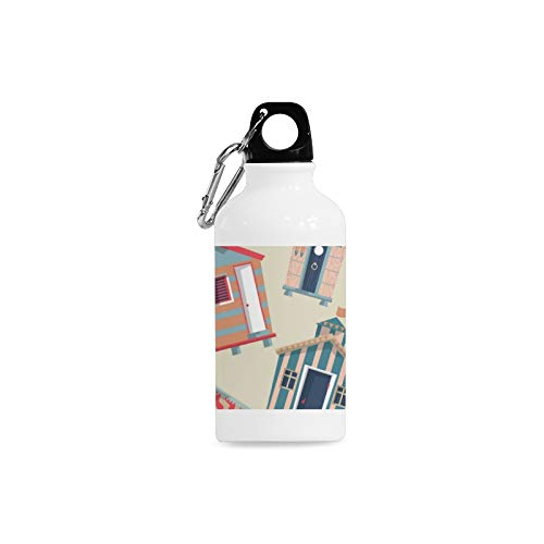 Jnseff Outdoor Simple Fashion Travel Beach House Hand-Painted Ideas Print Design Sport Water Bottle Aluminum Stainless Steel Bottle Aluminum Sport Water Bottle
