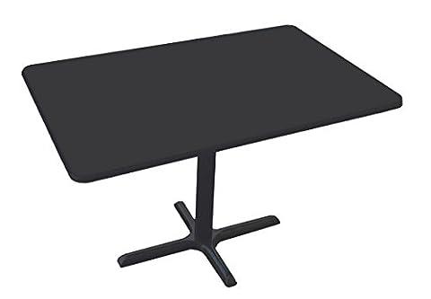Correll BCT3042-07 Black Granite Top and Black Base Rectangular Bar, Café and Break Room Table, (Rectangular Table Base)