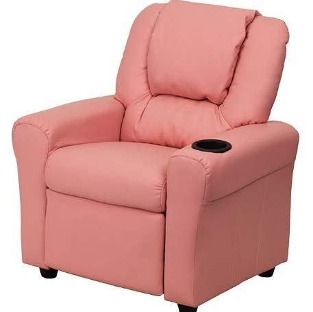 Rocking Chair Glider Rocker Kids Recliner Pink Vinyl