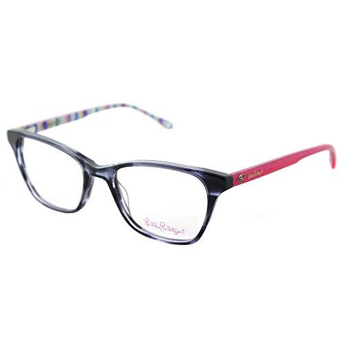 Lilly Pulitzer Sydney NV Navy Plastic Rectangle Eyeglasses - Frames Glasses Sydney