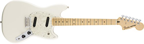 Fender Mustang Electric Guitar - Maple Fingerboard - Olympic ()