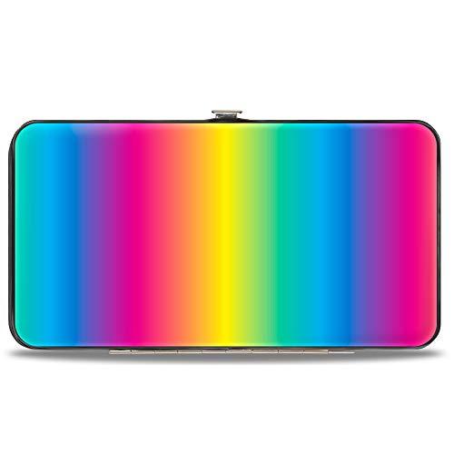 Buckle-Down Hinge Wallet - Rainbow Ombre