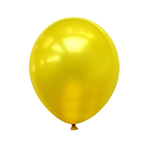 Neo LOONS 12 Pearl Yellow Premium Latex Balloons -- Great for Kids, Adult Birthdays, Weddings, Receptions, Baby Showers, Water Fights, or Any Celebration, Pack of 100