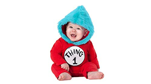 Dr Seuss Baby Thing 1 and Thing 2 Costume for Dr. Seuss's Birthday Costume Idea (18-24 Months) Red-Blue]()