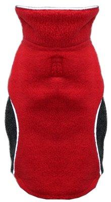 Hip Doggie HD-5PFWR-S Reversible Polar Fleece Wrap Coat, Red, Size S
